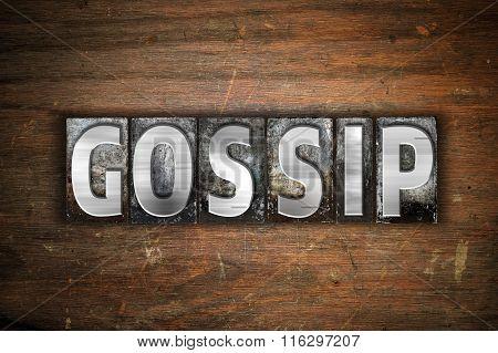 Gossip Concept Metal Letterpress Type