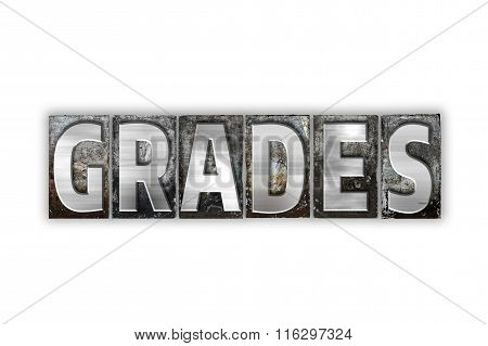 Grades Concept Isolated Metal Letterpress Type