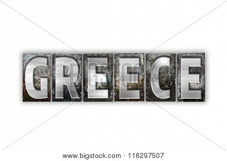 Greece Concept Isolated Metal Letterpress Type