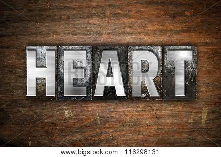 Heart Concept Metal Letterpress Type