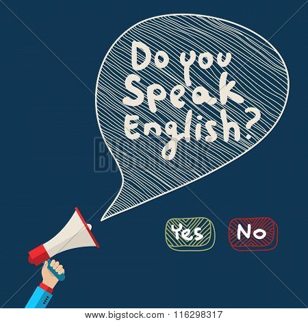 Concept of learning English.
