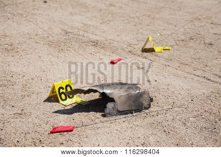 Evidence In Car  Explosion  Crime Scene