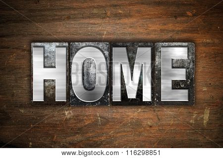 Home Concept Metal Letterpress Type