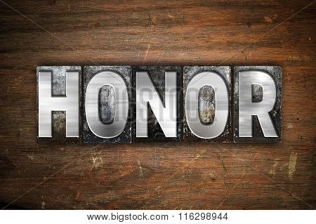 Honor Concept Metal Letterpress Type