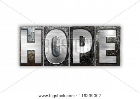 Hope Concept Isolated Metal Letterpress Type