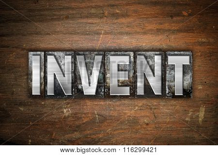 Invent Concept Metal Letterpress Type