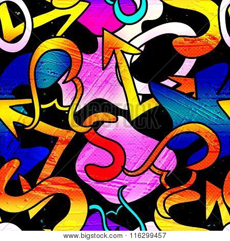 Graffiti Background Seamless Texture Vector Royalty Free Stock Illustration