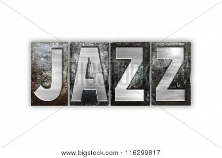 Jazz Concept Isolated Metal Letterpress Type