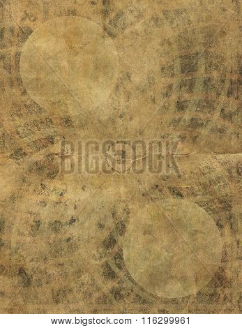 Heavily Faded Paper Page Retro Background Design