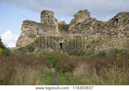 The ruins of the tower, september day. Koporye fortress Leningrad oblast