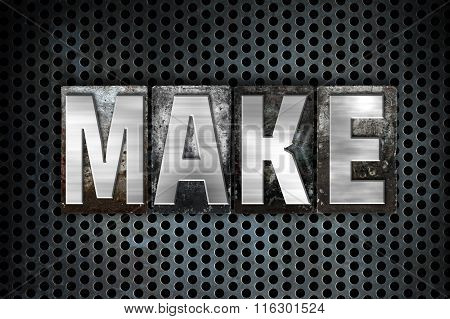 Make Concept Metal Letterpress Type