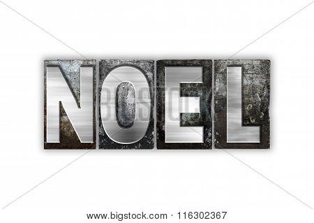 Noel Concept Isolated Metal Letterpress Type