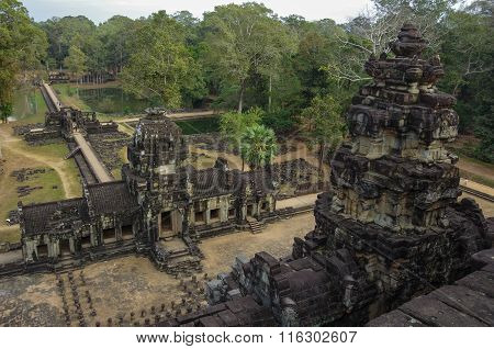 Ancient Khmer Architecture. Panorama View Of Baphuon Temple At Angkor Wat Complex, Siem Reap, Cambod