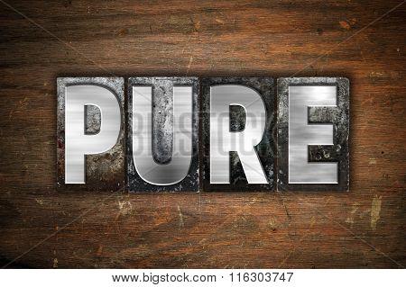 Pure Concept Metal Letterpress Type