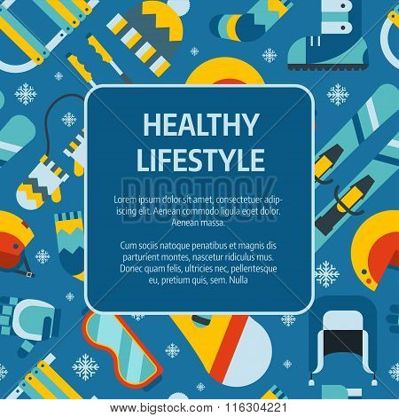 Winter Healthy Lifestyle Concept Template Background