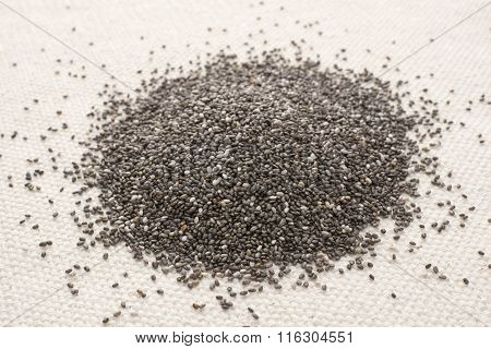 Pile Of Raw Chia Seed
