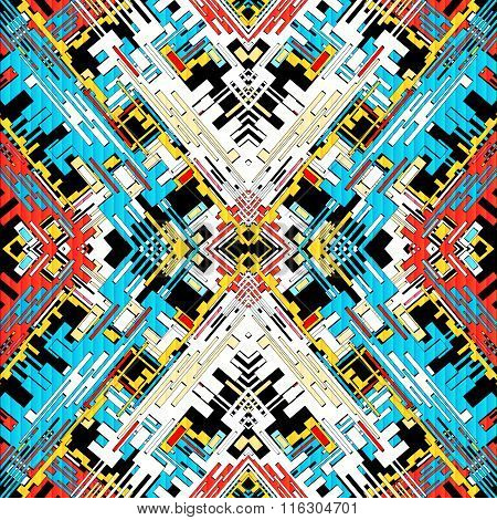 Colored Geometric Abstract Seamless Pattern Vector Illustration