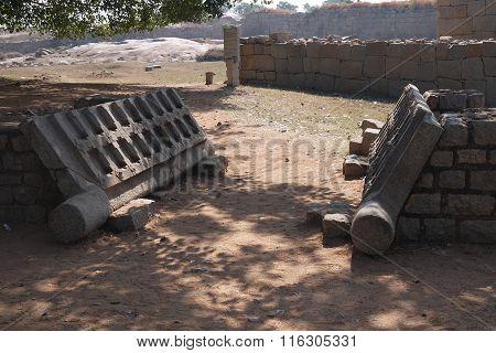 monolithic stone temple doors