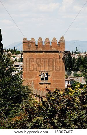 Castle tower, Alhambra Palace.