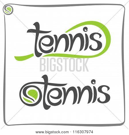 Creative image on the subject of tennis