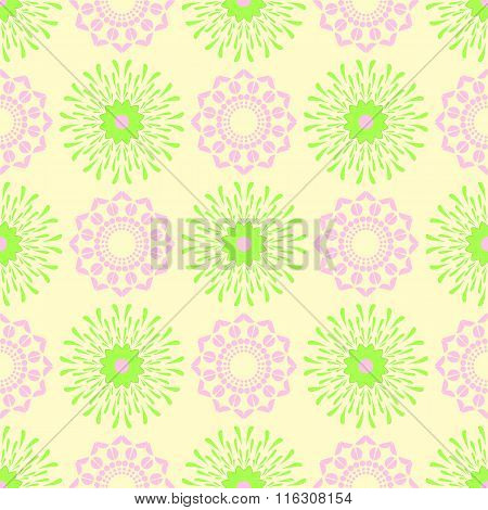 Seamless floral texture pattern