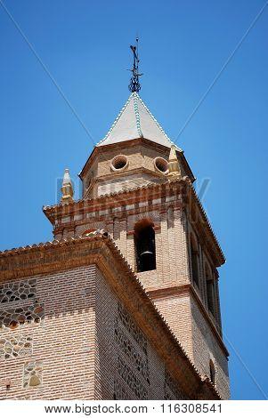 Santa Maria church tower, Alhambra Palace.