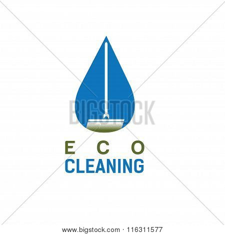 Eco Cleaning Vector Design Template