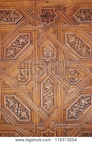 Wooden panel detail, Alhambra Palace.
