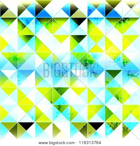 Small Bright Colored Polygons Seamless Geometric Background
