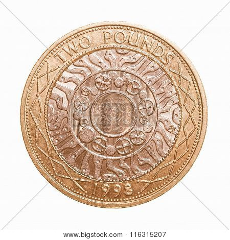 Two Pounds Coin Vintage