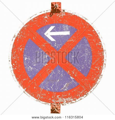 No Parking Sign Vintage