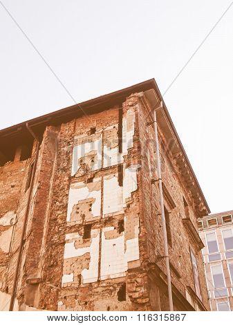 Building Ruins Vintage