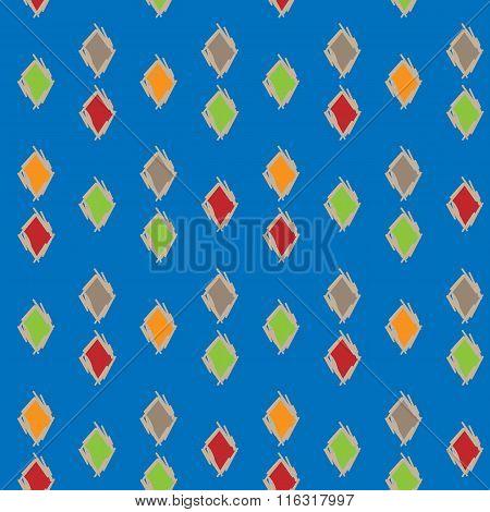 Colorful Background Of Diamonds, Seamless Pattern