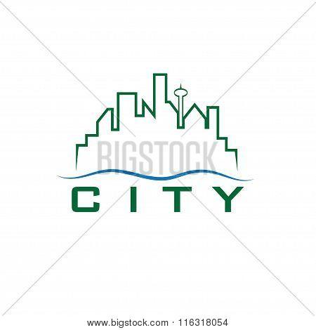 City Skyline Vector Design Template