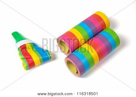 Colored Streamers And White Table