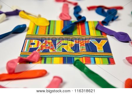 Colored Napkin And Ballons