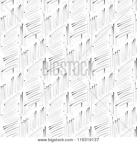 Hatch Ink Imitation Seamless Pattern