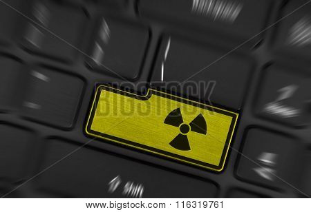 Symbol On Button Keyboard, Radioactive
