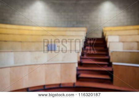Empty auditorium at the university