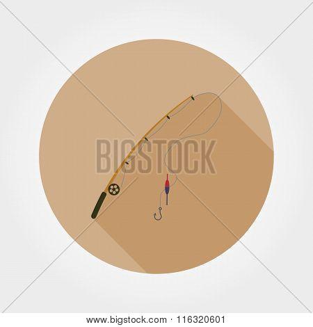 Fishing rod icon.