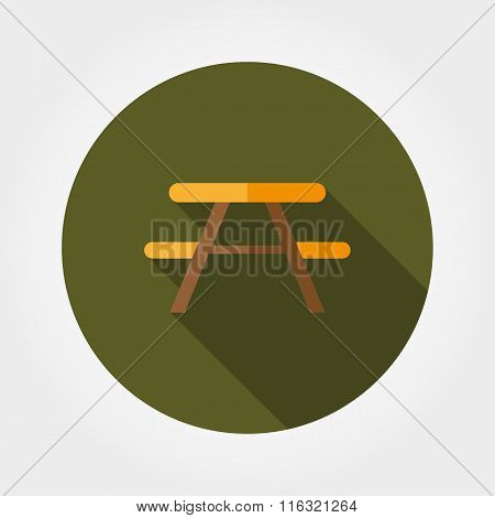 Camping table icon.