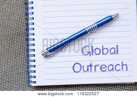 Global Outreach Write On Notebook