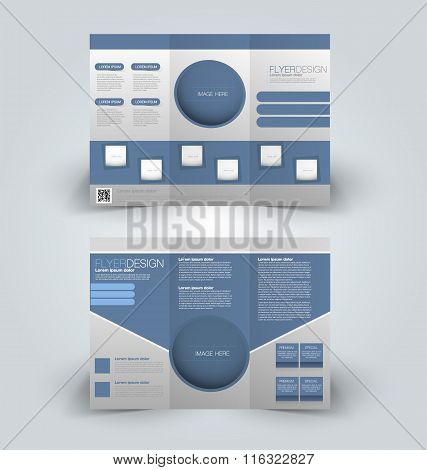 Flyer template. Business brochure. Editable A4 poster.