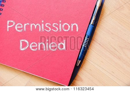 Permission Denied Write On Notebook