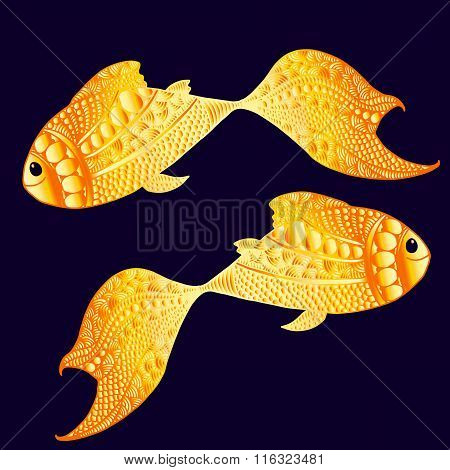 Smily golden fishes