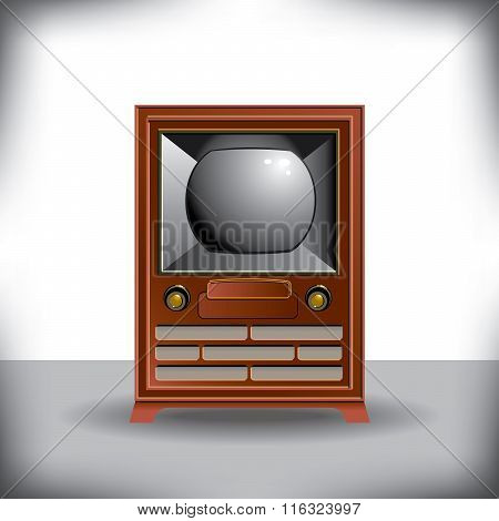 Vintage TV with space for text