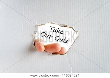 Take Our Quiz Text Concept