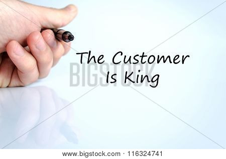 The Customer Is King Text Concept