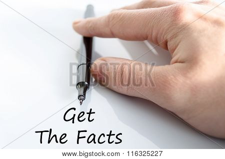 Get The Facts Text Concept