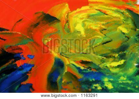 Desert Of The Sahara, Brushed Painting,